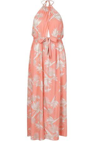 Boohoo Plus Printed Halter Neck Maxi Dress