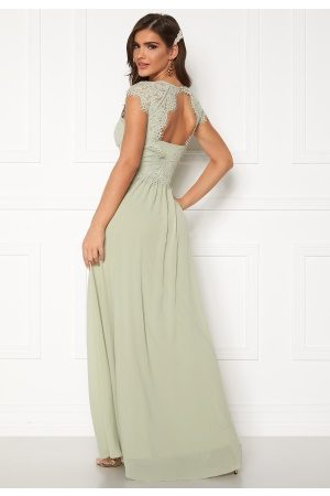 Chiara Forthi Amante lace Gown Light green 36