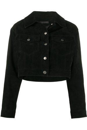 Giuseppe Zanotti Dame Skinnjakker - Cropped suede jacket