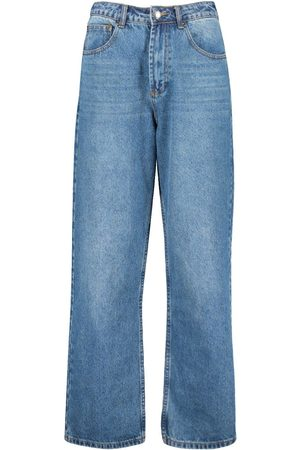 Boohoo High Rise Wide Leg Jean