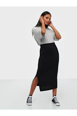 Pieces Pckylie Mw Midi Skirt Noos