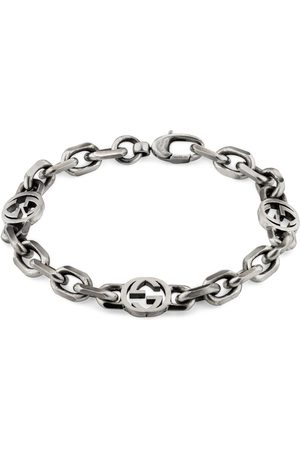 Gucci Silver bracelet with Interlocking G