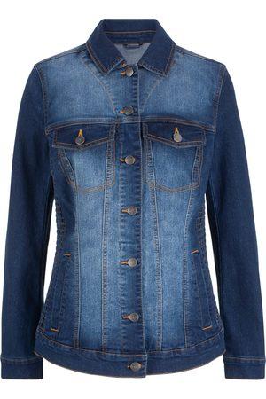 bonprix Jeansjakke med vaffelsøm i sidene