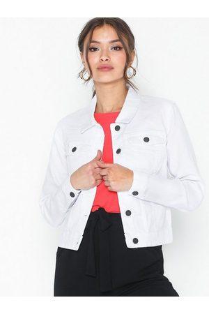 Noisy May Nmdebra L/S White Denim Jacket Clr