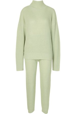 Boohoo Turtle Neck Knitted Jogger Lounge Set
