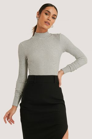 NA-KD Dame Pologensere - Structured High Neck Top