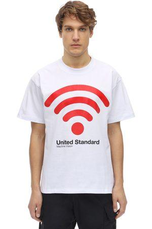 UNITED STANDARD Wifi Print Cotton Jersey T-shirt