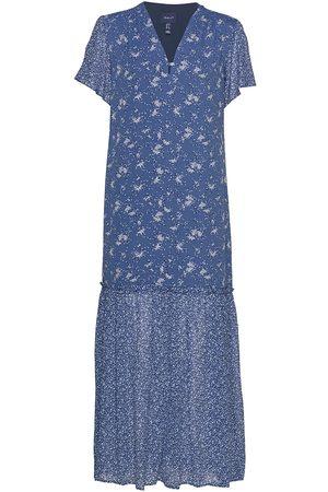GANT Dame Mønstrede kjoler - D2. Mix Print Chiffon Dress Maxikjole Festkjole
