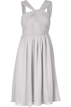 Boohoo Petite Occasion Pleated Detail Midi Dress