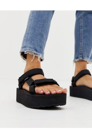 Teva Dame Platåsandaler - Flatform universal chunky sandals in black