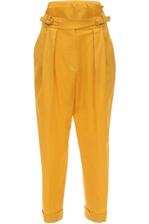 pushBUTTON Structured Cool Wool Straight Pants