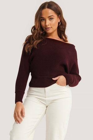 NA-KD Dame Gensere - Off Shoulder Knitted Sweater