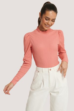 NA-KD Dame Topper - High Neck Structured Jersey Top
