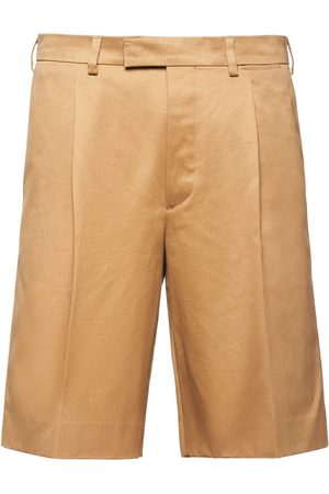 Prada Herre Bermudashorts - Pleated front Bermuda shorts