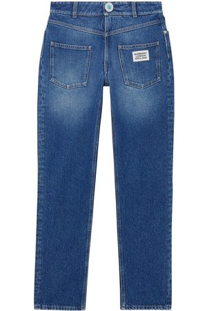Burberry Dame Straight - Straight-fit logo detail jeans