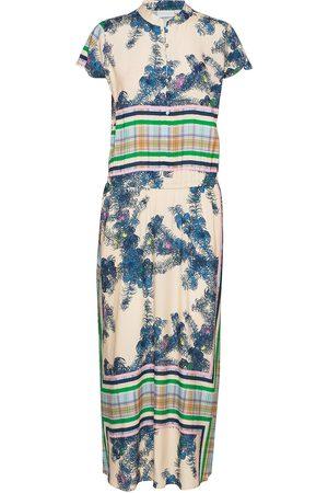 Coster Copenhagen Dame Maxikjoler - Long Dress W. Buttons Maxikjole Festkjole Blå