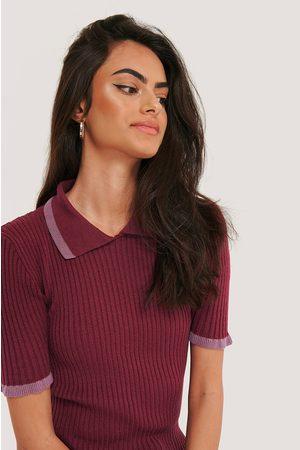 Trendyol Dame Kortermede - Knitted T-Shirt