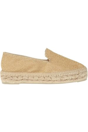 MANEBI Metallic trim espadrilles