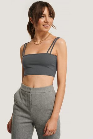 NA-KD Dame Crop - Double Strap Jersey Top
