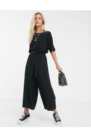 ASOS DESIGN Dame Jumpsuits - Tie waist jumpsuit in black