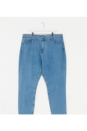 Noisy May Curve Mom jeans in mid blue