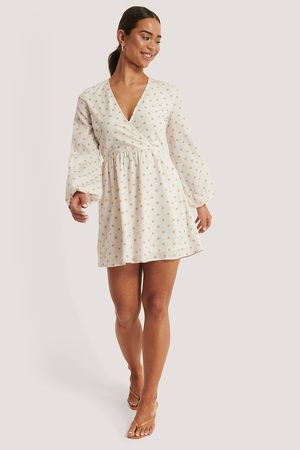 NA-KD Dame Sommerkjoler - Overlap LS Mini Dress