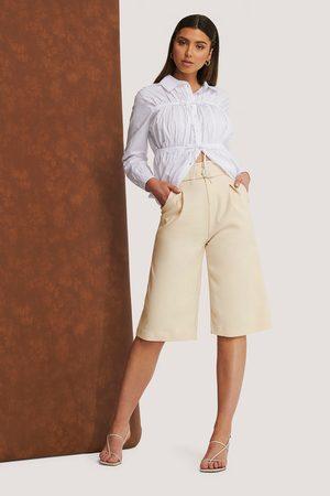 NA-KD Draped Bermuda Shorts
