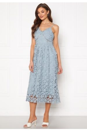 Y.A.S Luie Strap Midi Dress Dusty Blue L