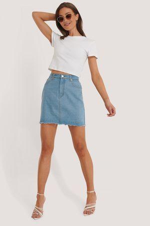 NA-KD Dame Miniskjørt - Mini Denim Skirt