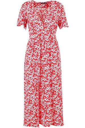 Boohoo Tall Floral Midi Dress