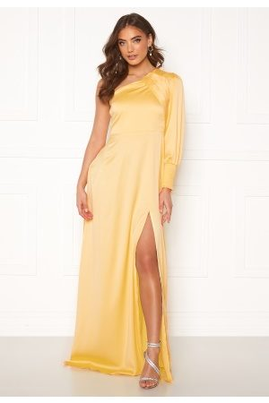 Alexandra Nilsson X Bubbleroom One sleeve gown Yellow 42