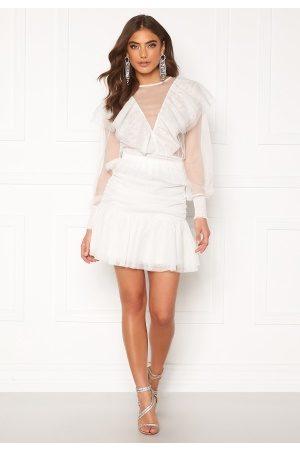 Alexandra Nilsson X Bubbleroom Tulle frill skirt Offwhite 36