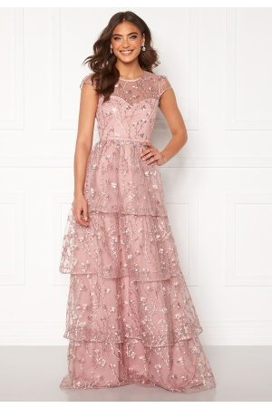 Alexandra Nilsson X Bubbleroom Flounced gown Dark heather pink 36