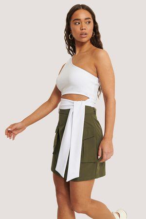 Sara Sieppi x NA-KD Dame Miniskjørt - Pocket Belted Skirt