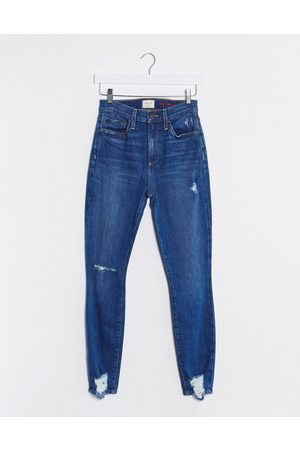 ALICE+OLIVIA Jeans high rise skinny jeans in distressed blue