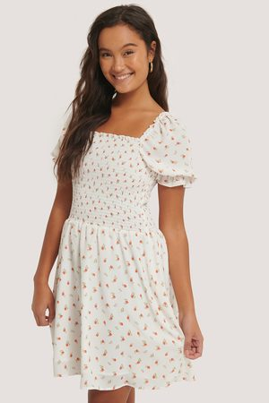 NA-KD Flower Printed Smock Dress