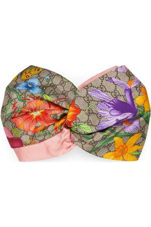 Gucci GG Flora print silk headband