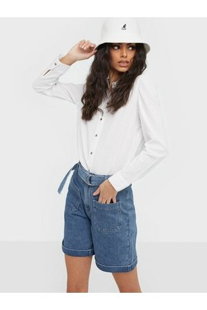 SELECTED Dame Shorts - Slfmartha Hw Mid Blue Denim Shorts