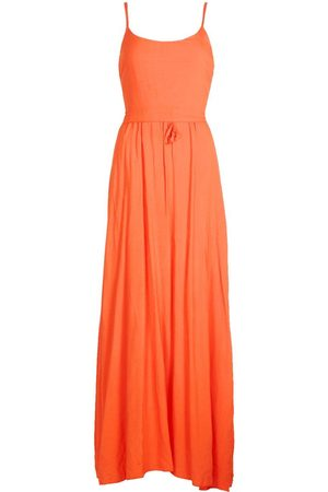 Boohoo Strappy Double Layer Maxi Dress