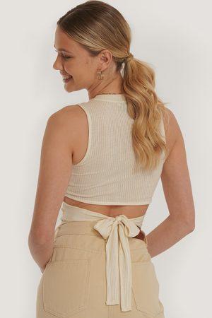 NA-KD Trend Dame Topper - Tie Back Top