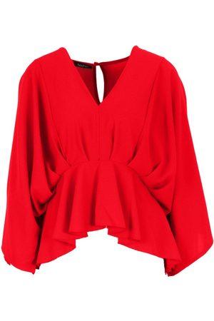Boohoo Woven Pleated Kimono Sleeve Top