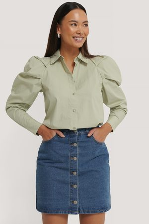 NA-KD A-line Buttoned Denim Skirt