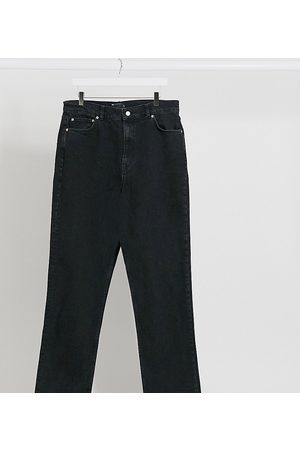 ASOS ASOS DESIGN Tall High rise stretch 'slim' straight leg jeans in black