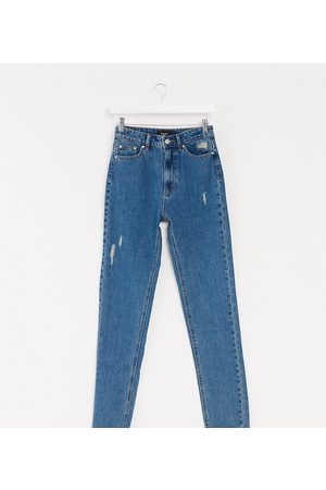 Vero Moda Mom jeans with high waist in medium blue