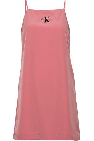 Calvin Klein Monogram Slip Dress Kort Kjole Rosa