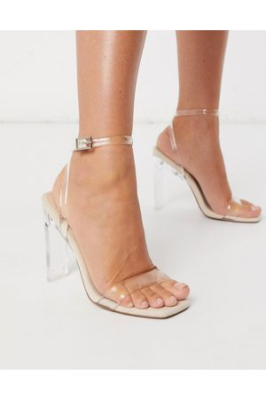 ASOS Norton clear barely there heeled sandals