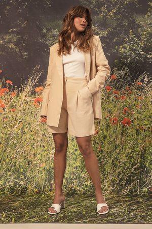 NA-KD Dame Shorts - Linen Look Shorts
