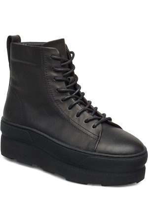 Gram 767g Black Leather Shoes Boots Ankle Boots Ankle Boots Flat Heel