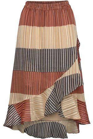 Second Female Board Mw Wrap Skirt Knelangt Skjørt Multi/mønstret