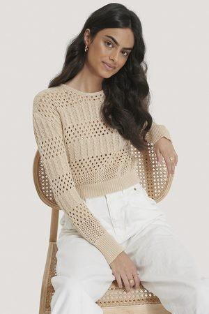 NA-KD Pattern Knitted Cropped Sweater
